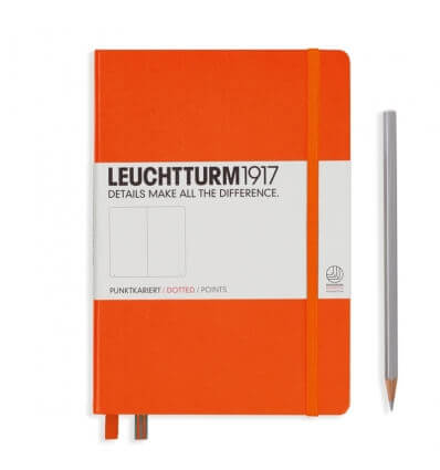 Leuchtturm Notizbuch Orange, Medium A5, dotted