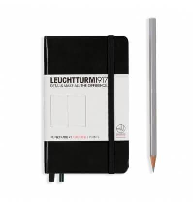 Bild von Leuchtturm Notizbuch Schwarz, Pocket A6, dotted hergestellt von Leuchtturm