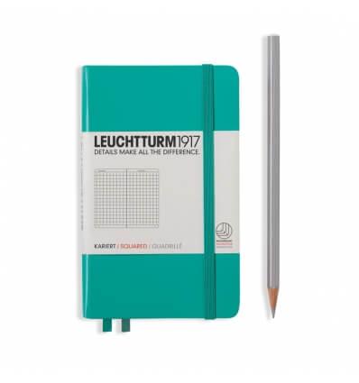 Leuchtturm Notizbuch Smaragd, Pocket A6, kariert