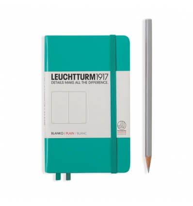 Bild von Leuchtturm Notizbuch Smaragd, Pocket A6, blanko hergestellt von Leuchtturm