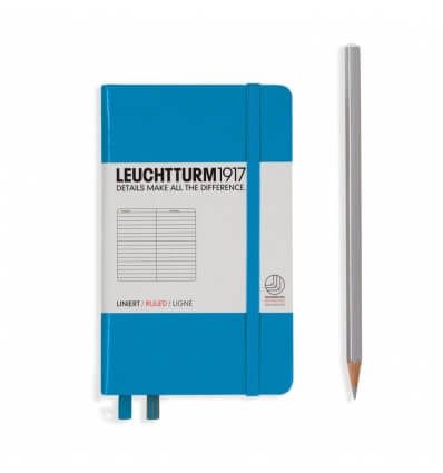 Bild von Leuchtturm Notizbuch Azur, Pocket A6, liniert hergestellt von Leuchtturm