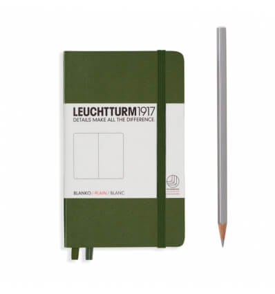 Leuchtturm Notizbuch Army, Pocket A6, blanko