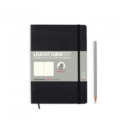Bild von Leuchtturm Notizbuch Softcover Schwarz, Medium A5, dotted hergestellt von Leuchtturm