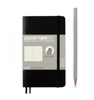 Bild von Leuchtturm Notizbuch Softcover Schwarz, Pocket A6, liniert hergestellt von Leuchtturm