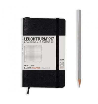 Bild von Leuchtturm Notizbuch Softcover Schwarz, Pocket A6, kariert hergestellt von Leuchtturm
