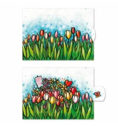 Bild von Bärenpresse Lebende Karte Tulpen hergestellt von Bärenpresse