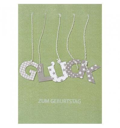 räder Buchstaben Karte - Glück