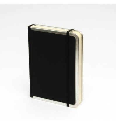Bild von Bindewerk Notizbuch BASIC schwarz, 12 x 16,5 cm, 144 Blatt liniert hergestellt von Bindewerk