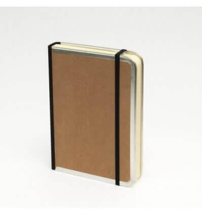Bild von Bindewerk Notizbuch BASIC natur-braun, 12 x 16,5 cm, 144 Blatt liniert hergestellt von Bindewerk