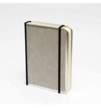 Bild von Bindewerk Notizbuch BASIC hellgrau, 12 x 16,5 cm, 144 Blatt liniert hergestellt von Bindewerk