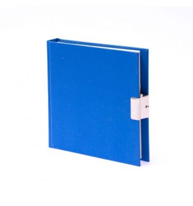 Bild von Bindewerk Tagebuch LEINEN hellblau, 15 x 15 cm, 144 Blatt blanko hergestellt von Bindewerk