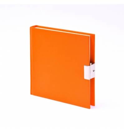 Bild von Bindewerk Tagebuch LEINEN orange, 15 x 15 cm, 144 Blatt blanko hergestellt von Bindewerk