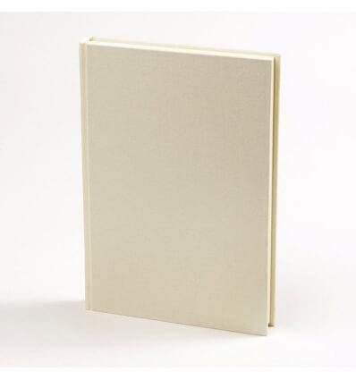 Bild von Bindewerk Adressbuch LEINEN vanille, 12 x 16,5 cm, 48 Blatt hergestellt von Bindewerk