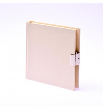 Bild von Bindewerk Tagebuch LEINEN vanille, 15 x 15 cm, 144 Blatt blanko hergestellt von Bindewerk