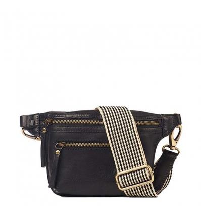 O MY BAG BECKS BUM BAG Black Stromboli Leather